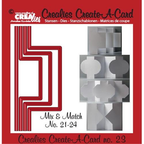 Crealies Create A Card no. 23 stans voor kaart 14,5 x 6,5 cm / CCAC23