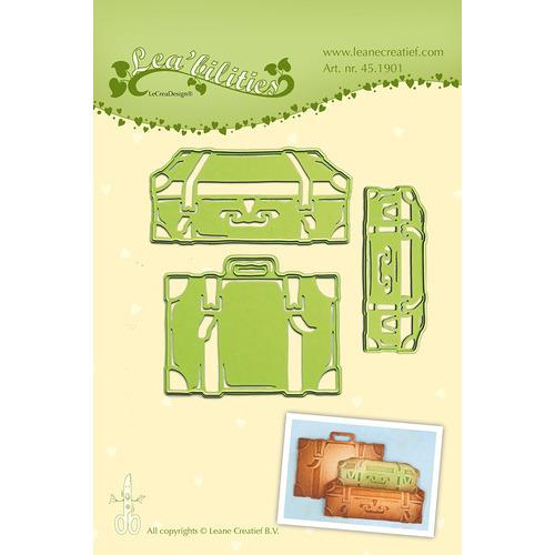 Lea'bilitie® Suitcases snij en embossing mal