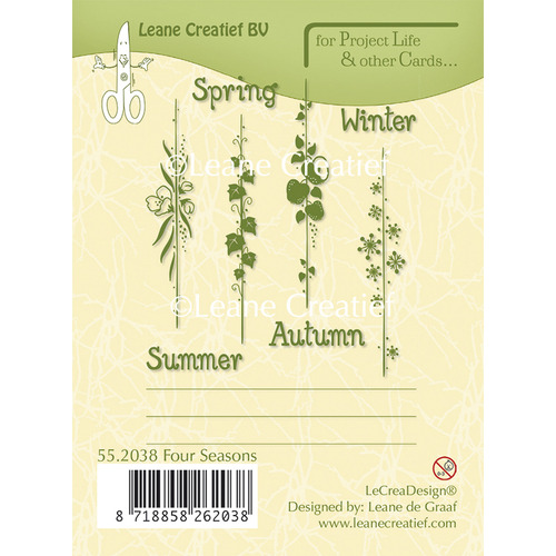 Project Life & Cards clear stamp Seasons English text
