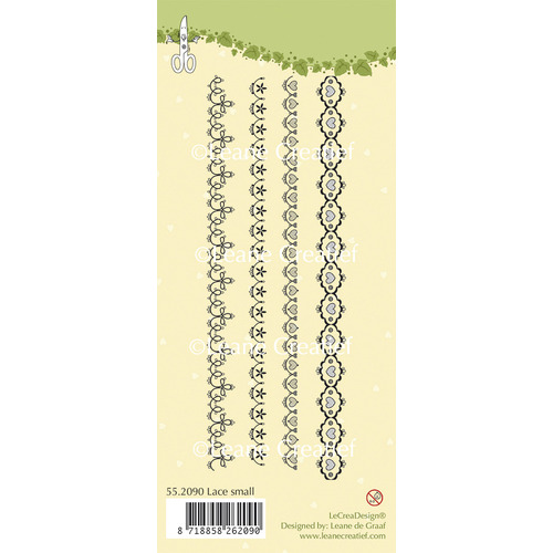Clear stamp Lace small 4x 165 mm. long