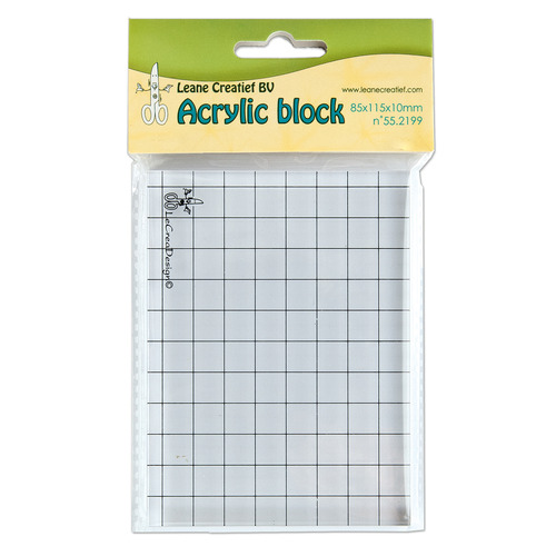 Acrylic clear stamp block 85x115x10mm.