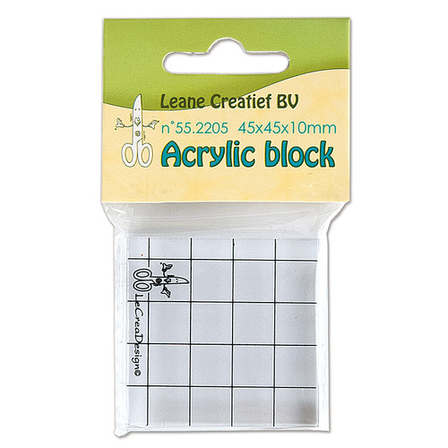 Acrylic clear stamp block 45x45x10mm.