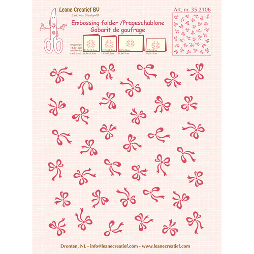 Embossing folder background Bows  14.4x16cm
