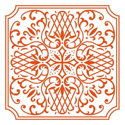 Marianne D Embossing folder Anja`s square DF3426 (New 04-16)