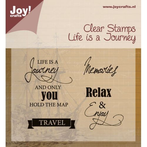 Joy! crafts - Clearstamp - Life is a journey 6410/0409