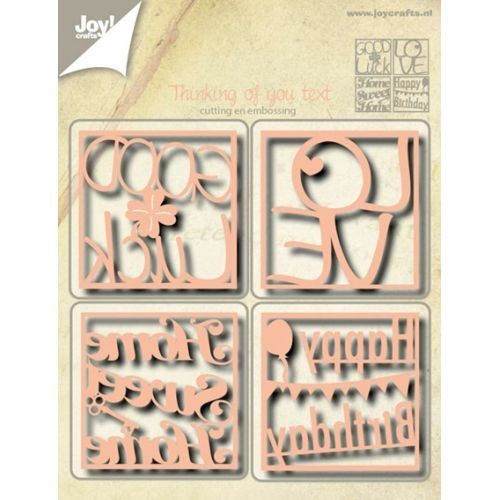 Joy! crafts - Die - Cutting & Embossing - Tekst - Thinking of you (ENG)