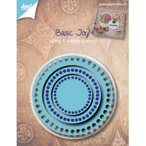 Joy! crafts - Die - Cutting & Embossing - Basis - Rond 3 mallenca. 70 x 70 / 50 x 50 / 30 x 30mm