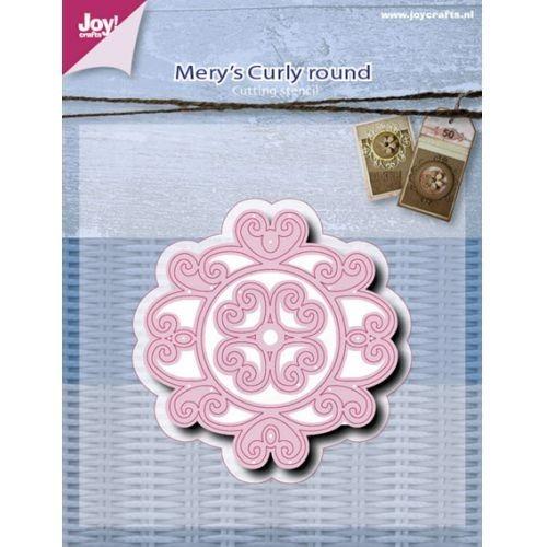 Joy! crafts - Die - Cutting - Mery`s Curly Round ca. 70 x 65 / 56 x 52mm