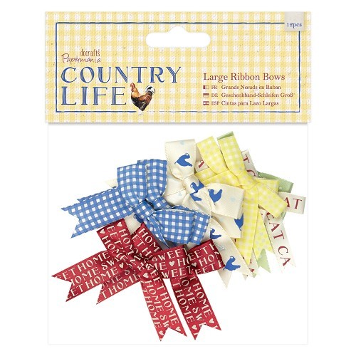 Large Ribbon Bows (12pcs) - Country Life