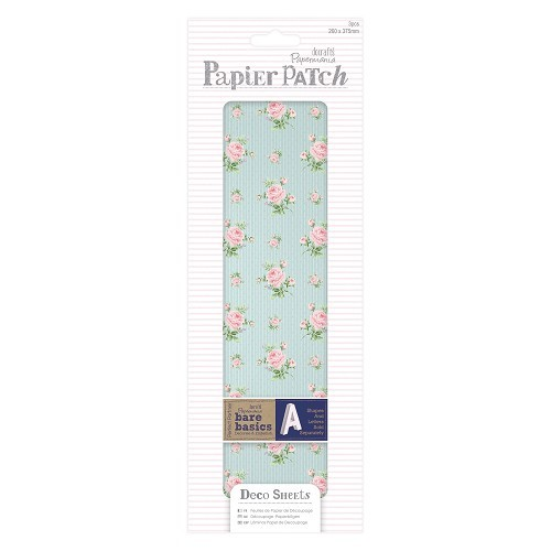 Deco Sheets (3pcs) - Papier Patch - Pink Rose
