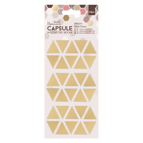 Adhesive Mirror Shapes (30pcs)- Triangles - Capsule - Geometric Mocha