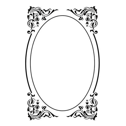 Embossing folders - Oval deco frame 110x160mm