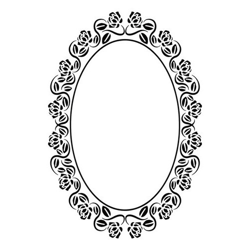 Embossing folders - Oval rose frame 110x160mm
