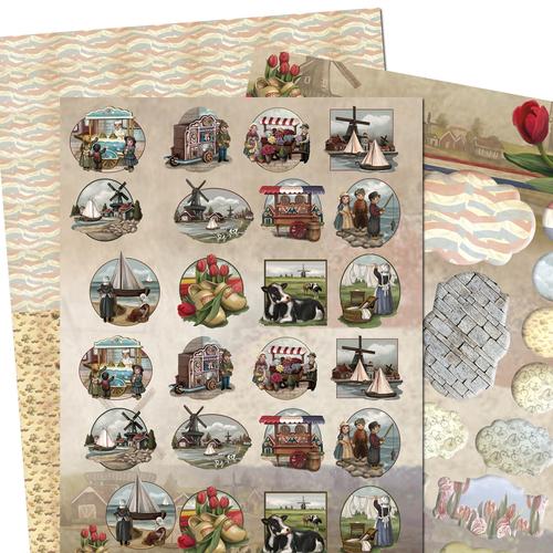 3D SET - Amy Design - Oud Hollands - Minis & Labels