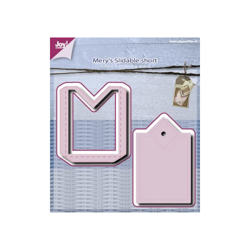 6002/0512 Snij en embossing Mery 2 st Slidable short