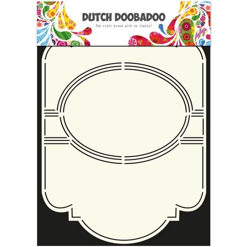 Dutch Doobadoo Dutch Card Art Stencil Swing card 5 ovaal A4 470.713.309