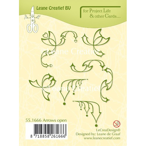 Project Life & Cards clear stamp Arrows open