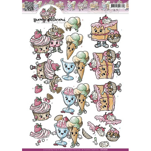 3D Knipvel - Yvonne Creations - Cupcakes