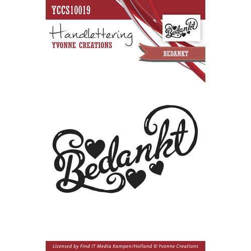 Clearstamp - Handlettering - Yvonne Creations - Bedankt
