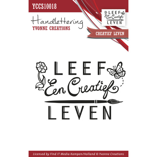 Clearstamp - Handlettering - Yvonne Creations - Creatief leven