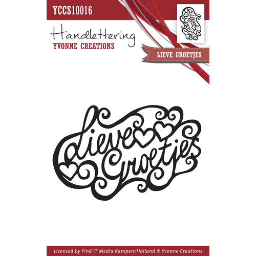 Clearstamp - Handlettering - Yvonne Creations - Lieve groetjes