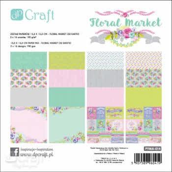 PYMA-014 Paperpad 15,2 x 15,2 CM - FLORAL MARKET
