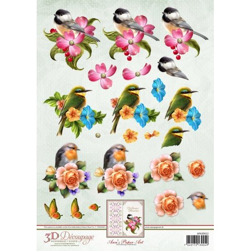 3D Knipvel - Ann Paper Art - Spring Birds