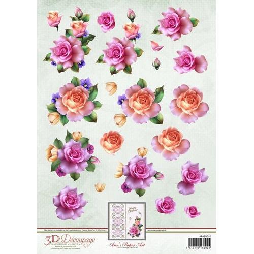 3D Knipvel - Ann Paper Art - Spring Roses