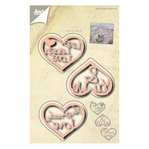 Joy! crafts - Die - Cutting - Hartjes met tekst 6002/0525