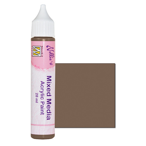 Mixed media paint satin brown