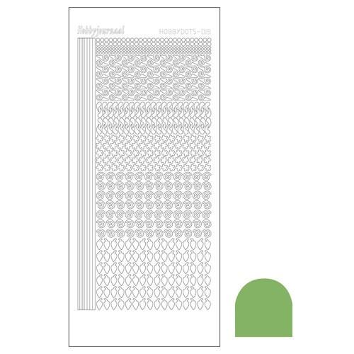 Hobbydots sticker - Mirror Lime
