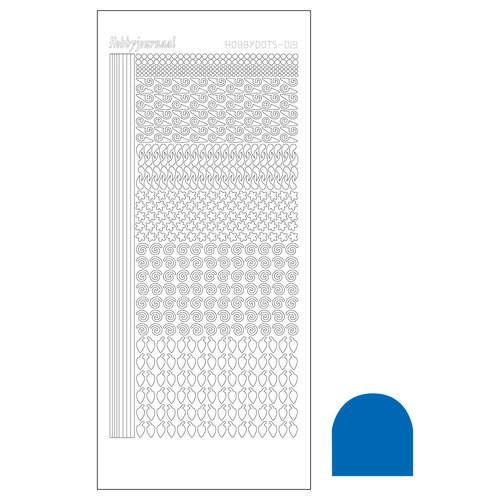 Hobbydots sticker - Mirror Blue
