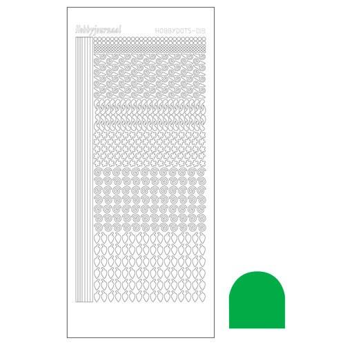 Hobbydots sticker - Mirror Green