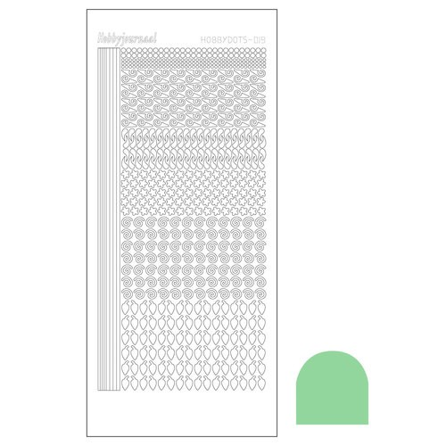Hobbydots sticker - Mirror Apple