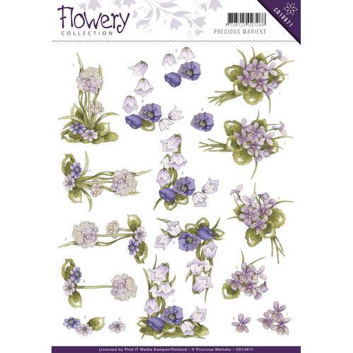 3D Knipvel - Precious Marieke - Flowery - Field flowers
