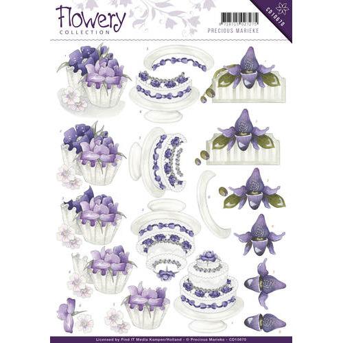 3D Knipvel - Precious Marieke - Flowery - Congratulations