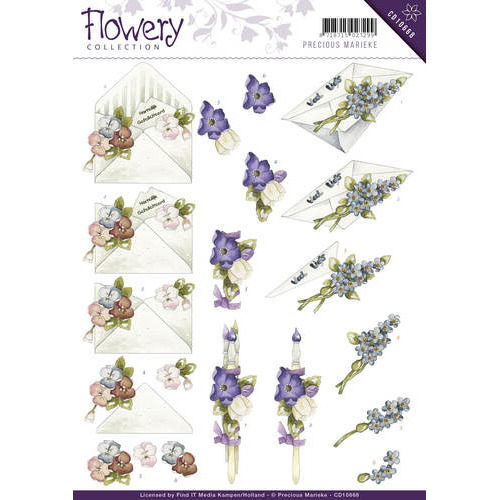 3D Knipvel - Precious Marieke - Flowery - Flower gift