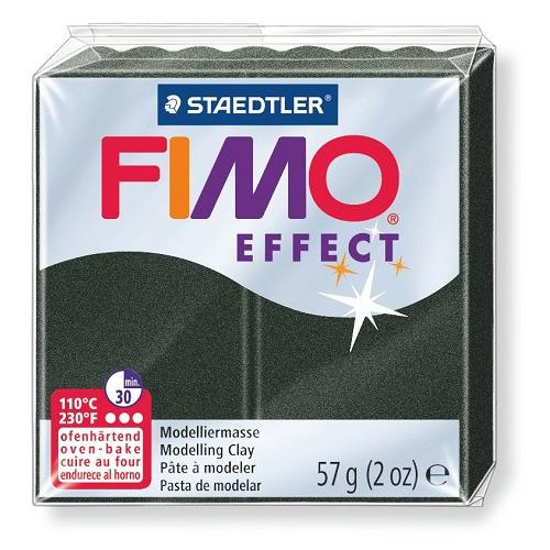 Fimo effect boetseerklei 57g parelmoer zwart