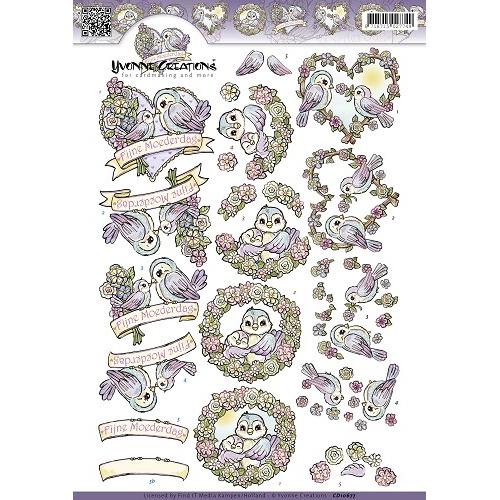 3D Knipvel - Yvonne Creations - Moederdag