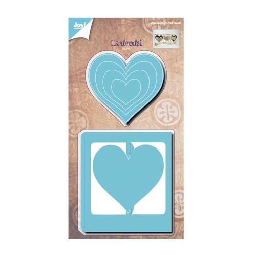 Kaartmodel hart + hartjes