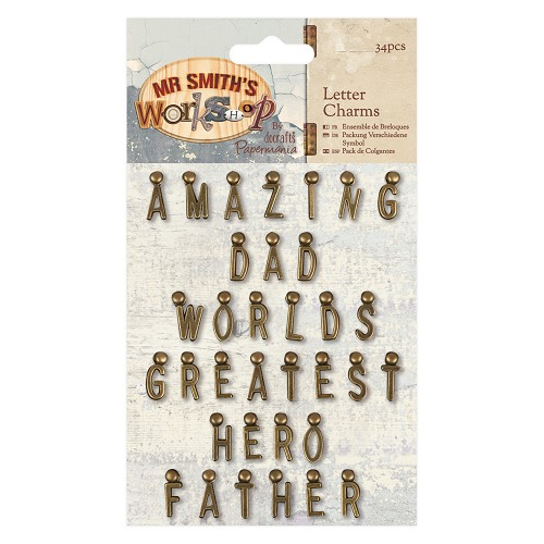 Letter Charms (34pcs) - Mr Smith`s Workshop