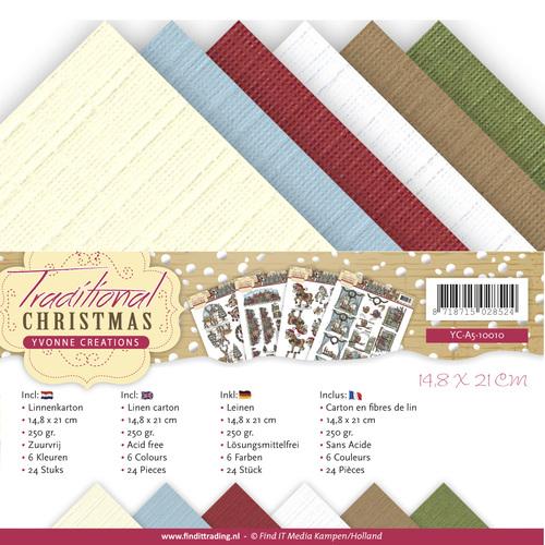 Linnenpakket - A5 - Yvonne Creations - Traditional Christmas