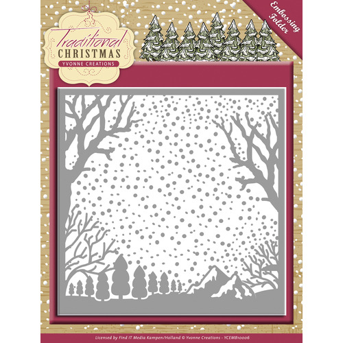 Embossing Folder - Yvonne Creations - Traditional Christmas
