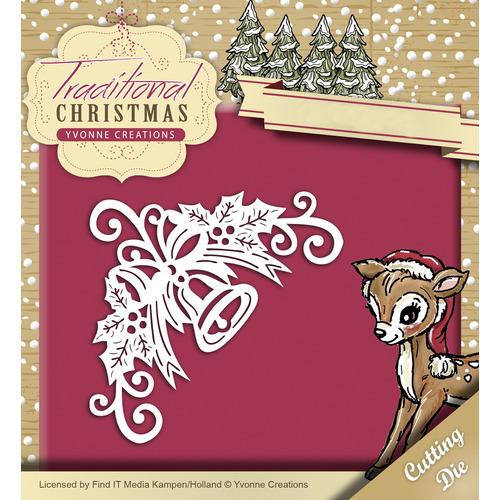 Die - Yvonne Creations - Traditional Christmas - Bell Corner
