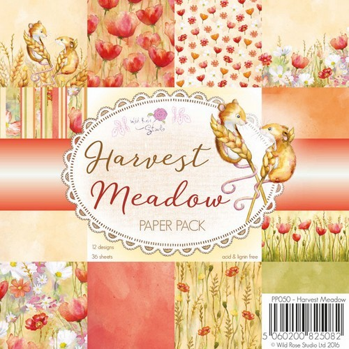 Wild Rose Studio`s 6x6 Paper Pack Harvest Meadow a 36 VL PP050
