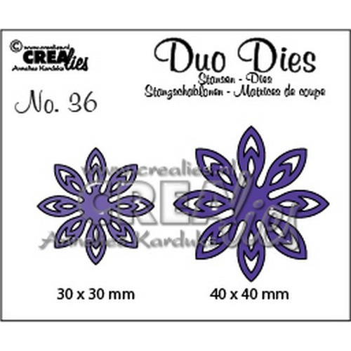Crealies Duo Dies no. 36 bloemen 18 40x40mm-30x30mm / CLDD36