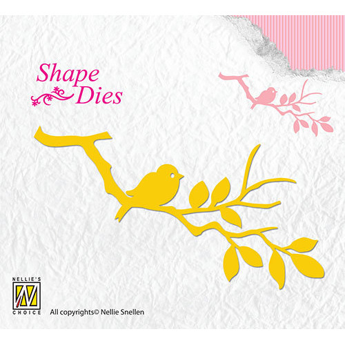 Shape Dies - Birdie on branch