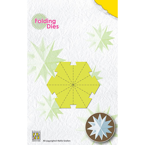 Folding Dies Christmas ball Star small