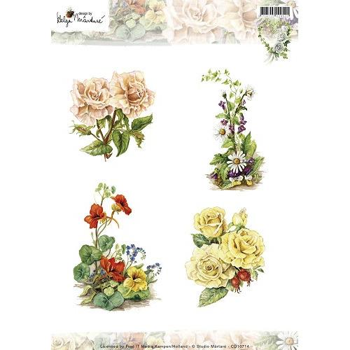 3D Knipvel - Studio Martare - Pictures - Gekleurde bloemen