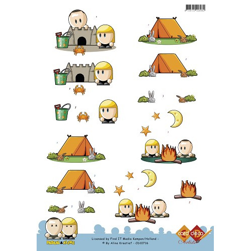 3D Knipvel - Pascal en Aline - Vacation - Camping